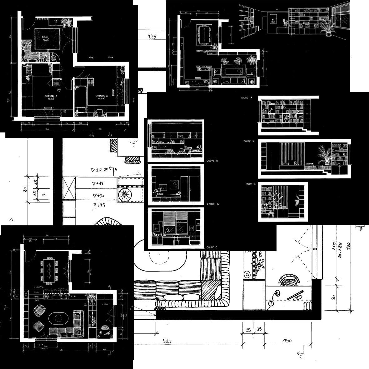 plans et coupes ih id es house cole d 39 architecture d 39 int rieur et d 39 architecture et de design. Black Bedroom Furniture Sets. Home Design Ideas
