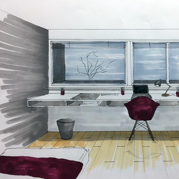 Sketching • iH idées HOUSE, École d\'Architecture d\'intérieur et d ...